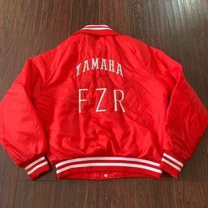 Vintage Yamaha FZR Motorsports Red Puffer Jacket M